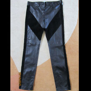 GIVENCHY Leather Ankle Zip Skinny Pants Sz. FR 42